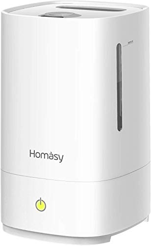 Homasy 4.5L Cool Mist Humidifiers, Top Filling Humidifiers for Bedroom, 28dB Quiet Ultrasonic...