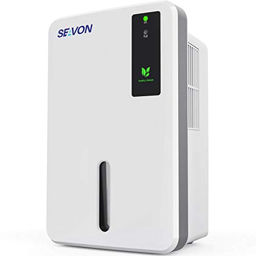 SEAVON 1500ml Dehumidifier, Portable and Compact Dehumidifiers for 2500 Cubic Feet Home,...