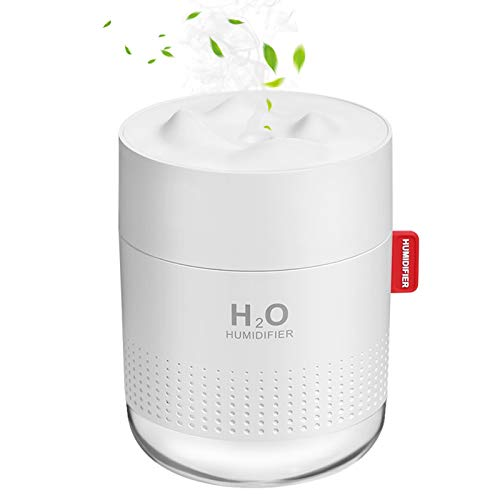 Portable Mini Humidifier, 500ml Small Cool Mist Humidifier, USB Personal Desktop Humidifier for...