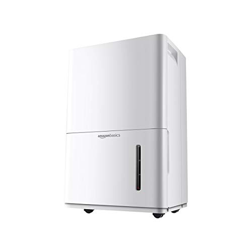 Amazon Basics Dehumidifier - For Areas Up to 4,000 Square Feet, 50-Pint, Energy Star Certified