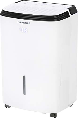 Honeywell Basement & Large Room Up to 4000 Sq. Ft, TP70AWKN Smart Wi-Fi Energy Star Dehumidifier, 70 Pint, White