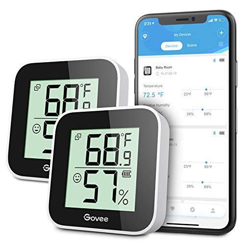 Govee Temperature Humidity Monitor 2-Pack, Indoor...