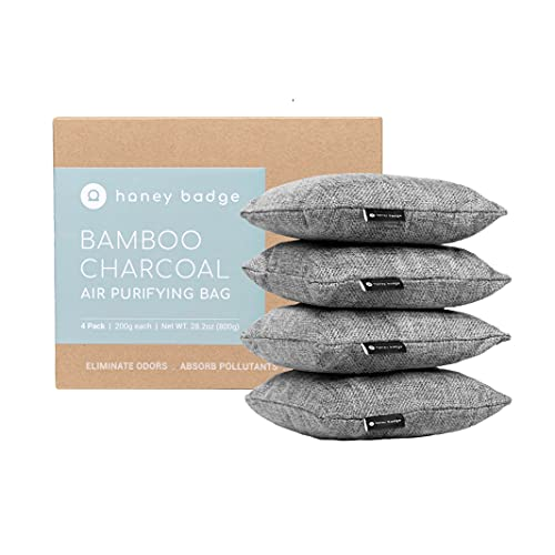 Charcoal Deodorizer Bags 4 Pack - Odor Absorber...