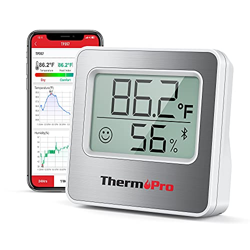 ThermoPro TP357 260FT Bluetooth Hygrometer Room...