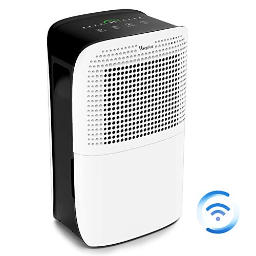 Vacplus 50 Pints Dehumidifier with WiFi Remote for Large Rooms, Large Capacity for Basements...