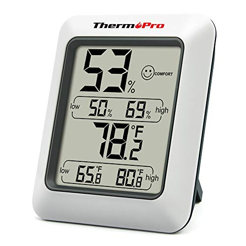 ThermoPro TP50 Digital Hygrometer Indoor...