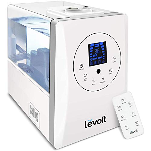 LEVOIT Humidifiers for Large Room Bedroom (6L), Warm and Cool Mist Ultrasonic Air Vaporizer for...