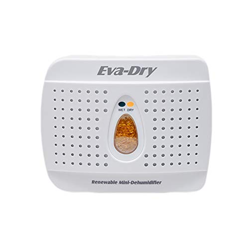 Eva Dry Wireless Mini Dehumidifier. Top Moisture Absorber for Small Spaces. Rechargeable & Portable. Perfect for Bedrooms, Closets, Cars, RV & Gun Safes. Removes Humidity & Helps Prevent Mold Growth
