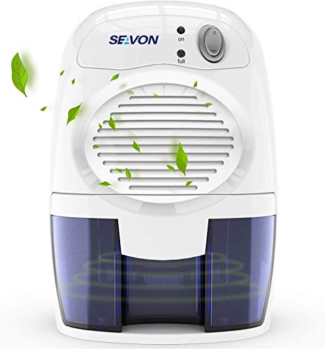 SEAVON Electric Dehumidifiers for Home, 2200 Cubic Feet (205 sq ft) Portable and Compact 16 oz...