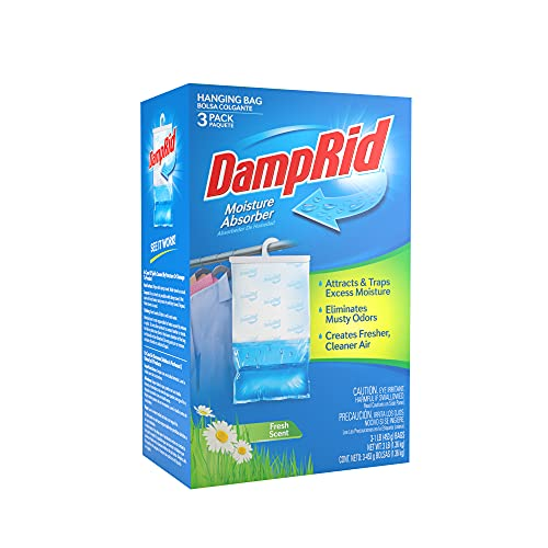 DampRid Hanging Bag-3pk Moisture Absorber, 3 Pack...