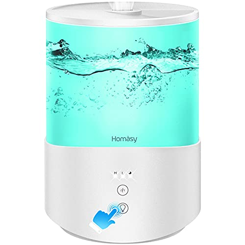 Homasy ColorMist Cool Mist Humidifier, 25dB...