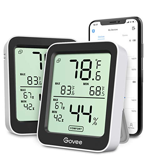 Govee Indoor Hygrometer Thermometer 2 Pack,...