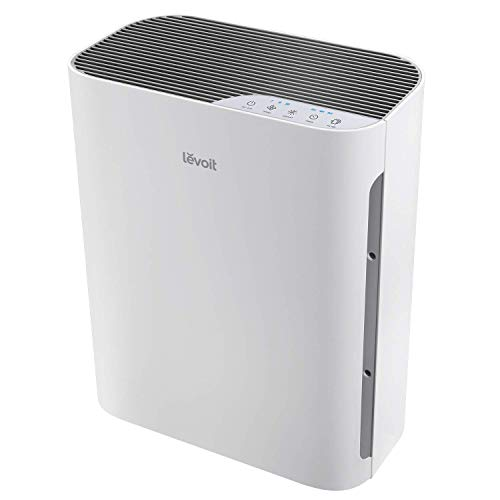 LEVOIT Air Purifier for Home with True HEPA Filter, Air Cleaner for Allergies and Pets, Smokers, Mold, Pollen, Dust, Quiet Odor Eliminators for Bedroom, 300 Sq. Ft, Vital 100 (Renewed)