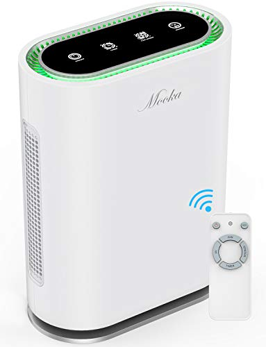 MOOKA True HEPA+ Smart Air Purifier, Large Room up to 540ft², 6-Point Filtration, Auto Mode,...