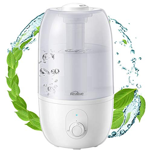 Ultrasonic Humidifier for Bedroom, Kealive 30-Hour Cool Mist Humidifier(2.7L/0.7G), Baby-Safe...