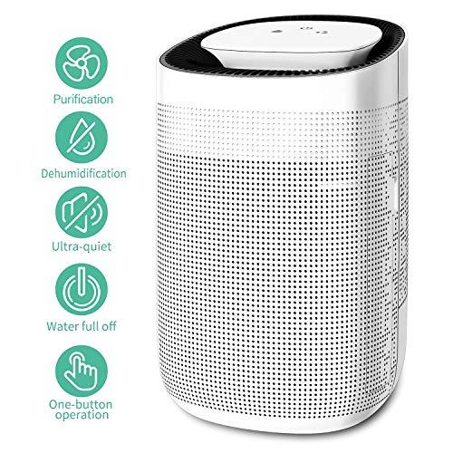 Honati Home Dehumidifier, 1000 ML Ultra Quiet Small Portable Dehumidifiers for Basements, Bedroom, Bathroom, Baby Room (Up To 215 Sq Ft)