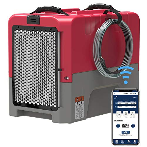 AlorAir Storm LGR Extreme Smart WiFi Commercial Dehumidifier with Pump, 85 PPD at AHAM, 5 Years...