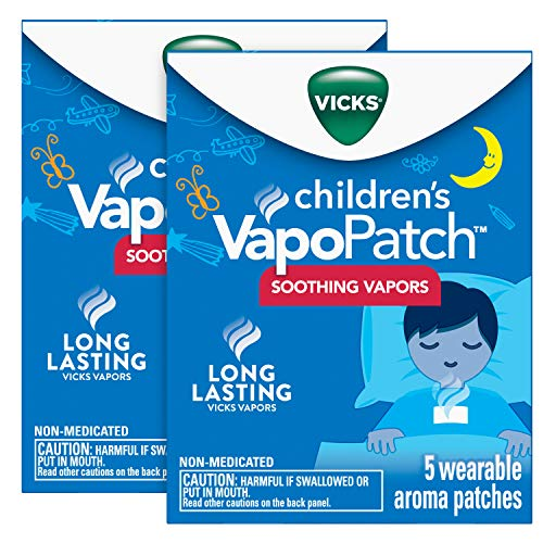 Vicks Children's VapoPatch, Long Lasting Soothing Vicks Vapors for Children Ages 6+, Mess-Free...