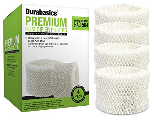 Durabasics 4 Pack of Premium Humidifier Filters...