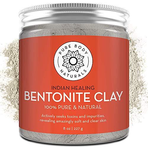 Pure Bentonite Powder for DIY Detox Bath & Facial...