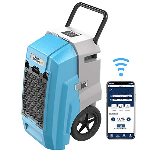ALORAIR Smart WiFi Storm Pro Industrial Commercial Dehumidifier with Pump, 85 PPD AHAM,...