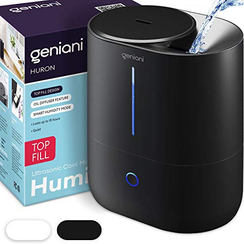 GENIANI Top Fill Cool Mist Humidifiers for Bedroom...