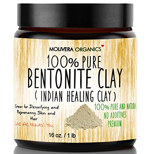 Molivera Organics Bentonite Clay for Detoxifying...