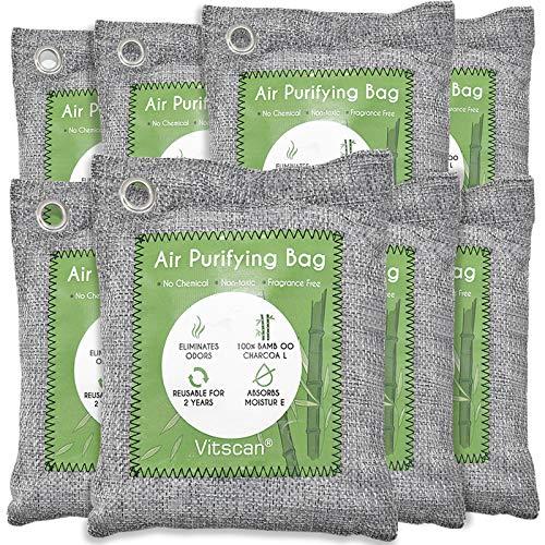 8 Pack Bamboo Charcoal Air Purifying Bag,...
