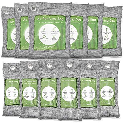 12 Pack Bamboo Charcoal Air Purifying Bag,...