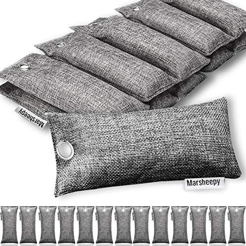 Marsheepy 24 Pack Activated Bamboo Charcoal Air Purifying Bags, Activated Charcoal Odor...