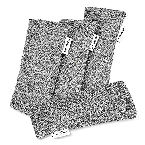 Natural Activated Bamboo Charcoal Bags 4 Pack, Home Air Purifying Bag, Car Odor Eliminator,...