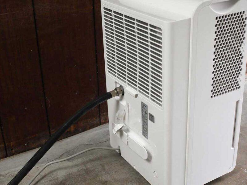 how to drain a dehumidifier to the outside