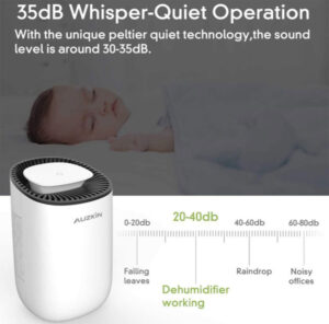 Auzkin small dehumidifier for 2100 cubic feet