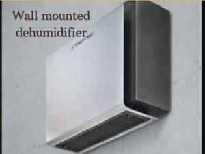 Wall mounted dehumidifier
